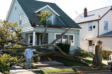 Storm damage to roof in Westminster by American Renovations LLC